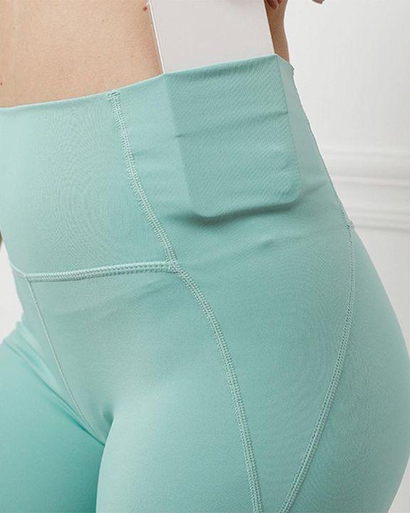 Contrast Stitch Pocket Side Softness Butt Lifting Sports Leggings gallery 11