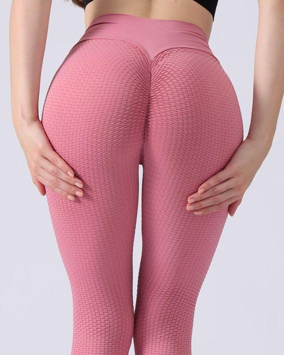 Textured Seamless Butt Lifting High Waist Sports Leggings gallery 16