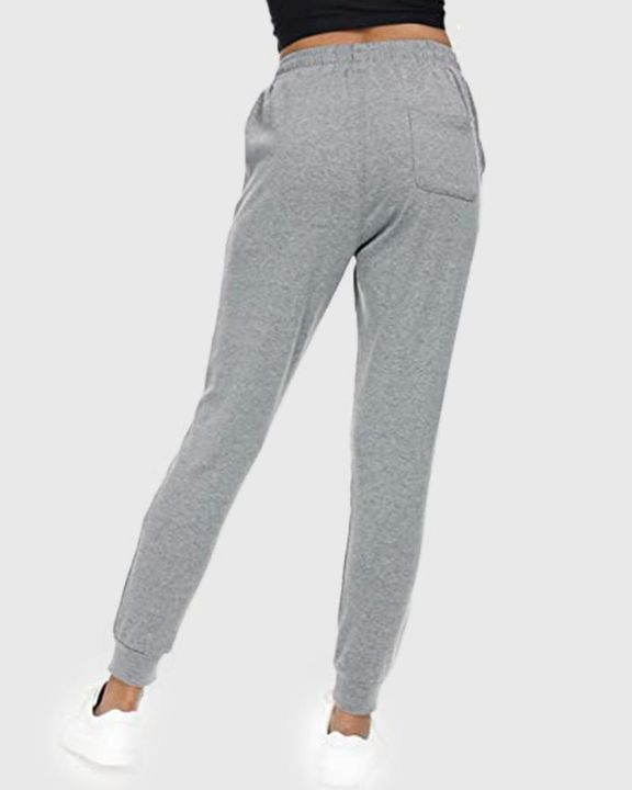 Solid Drawstring Front Pocket Detail Sports Pants gallery 10