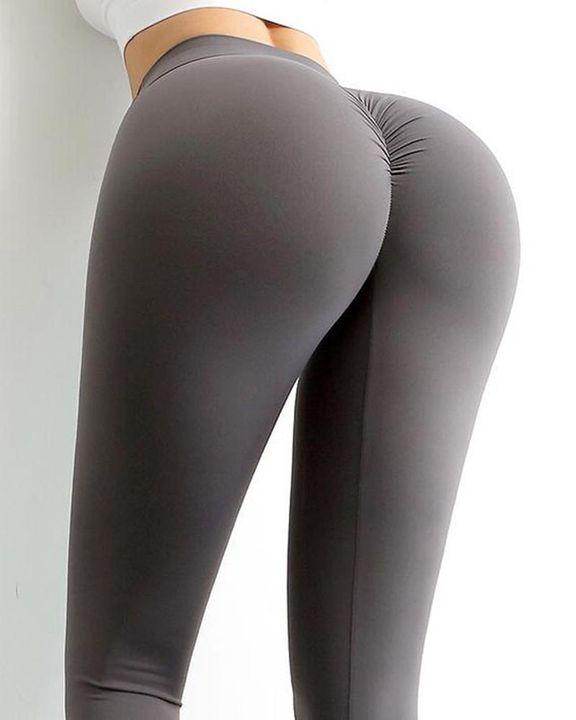 Wide Waistband Scrunch Butt Hip Lift Sports Leggings gallery 9