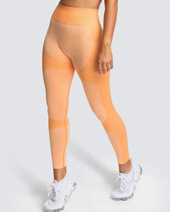 Space Dye Butt Lifting Seamless Absorbs Sweat Sports Leggings gallery 4