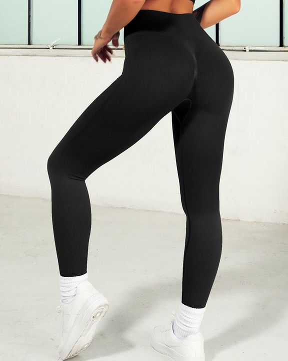 Ombre Wide Waistband Butt Lifting Sports Leggings gallery 23