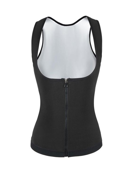 Solid Zip Front Shapewear Trainer gallery 5