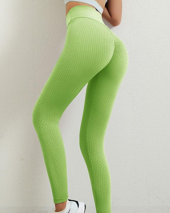 Solid Textured Butt Lifting Leggings gallery 29