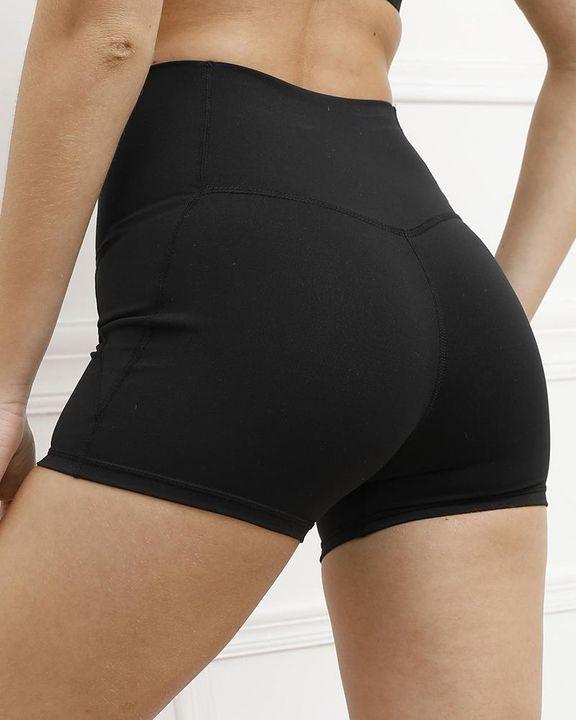 Pocket Decor Wide Waistband Butt Lifting Sports Shorts gallery 15