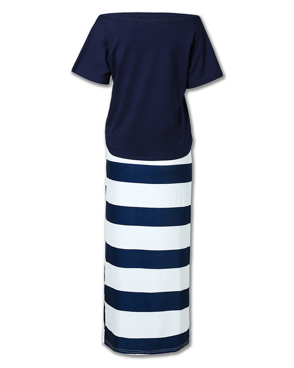 Anchor Print T-Shirt & Striped Skirt Set gallery 6