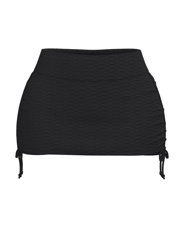 Textured Drawstring Side Sports Skirt gallery 6