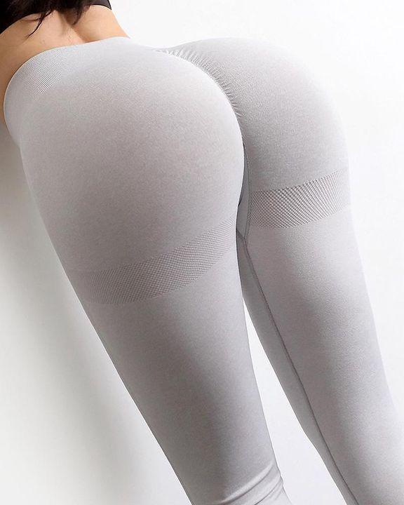 Solid Scrunch Butt High Waist Sports Leggings gallery 7