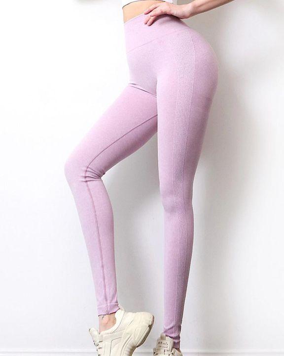 Solid Scrunch Butt High Waist Sports Leggings gallery 18