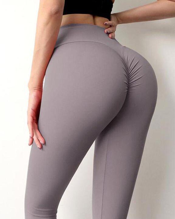 Wide Waistband Scrunch Butt Hip Lift Sports Leggings gallery 8