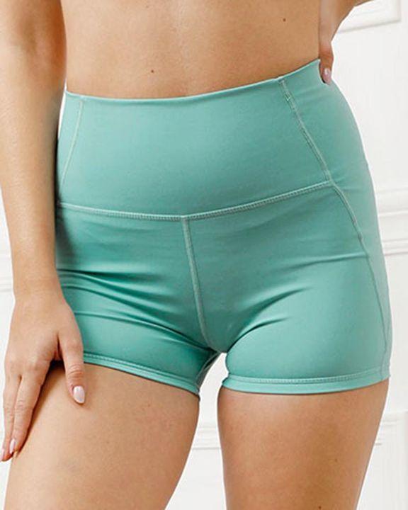 Pocket Decor Wide Waistband Butt Lifting Sports Shorts gallery 13