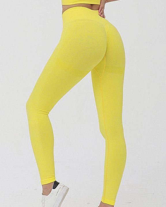 Solid Scrunch Butt High Waist Sports Leggings gallery 1