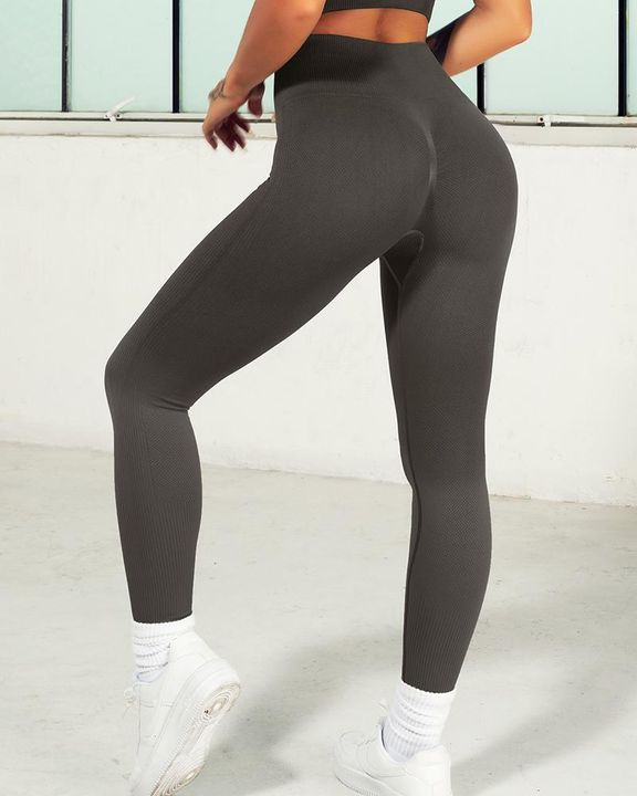 Ombre Wide Waistband Butt Lifting Sports Leggings gallery 21