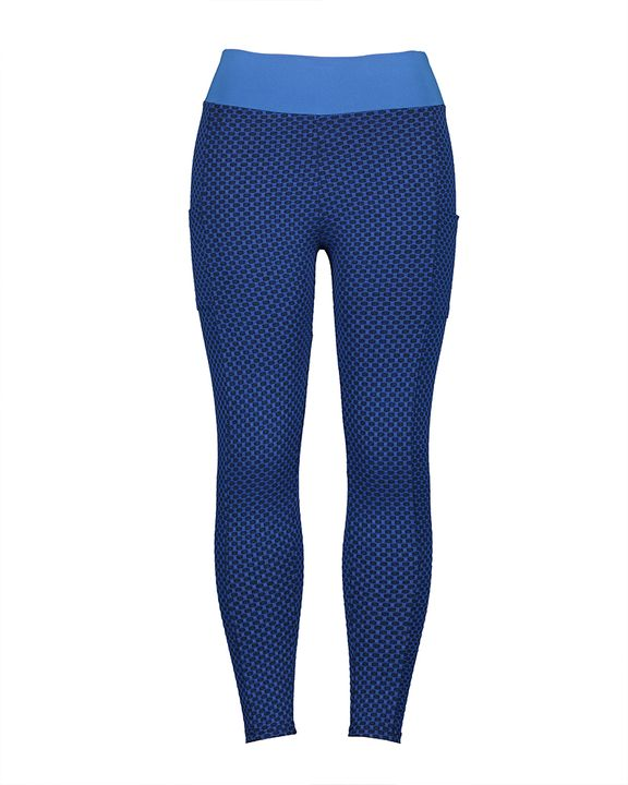 Textured Pocket Detail Wide Band Waist Sports Leggings gallery 5