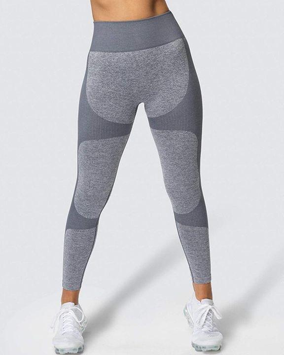 Space Dye Butt Lifting Seamless Absorbs Sweat Sports Leggings gallery 12