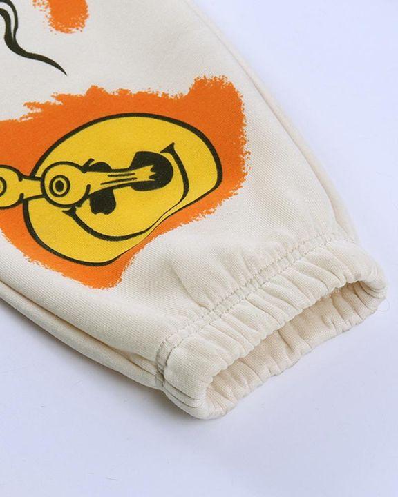 Cartoon Print Drawstring Front Pocket Detail Sports Pants gallery 7