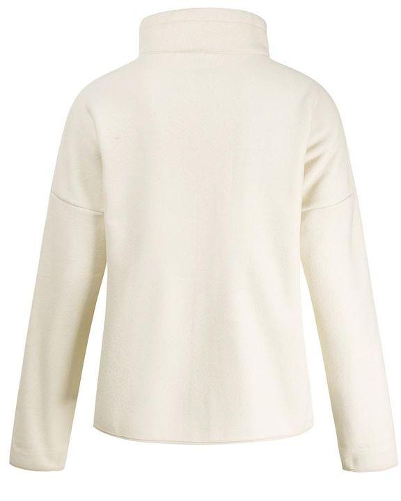 Solid Zip Up Split Hem Stand Collar Jacket gallery 6