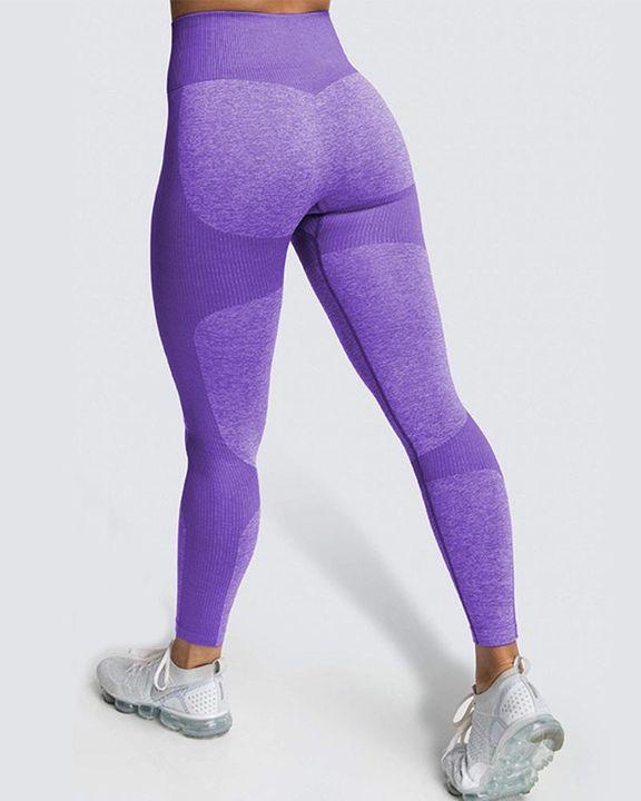 Space Dye Butt Lifting Seamless Absorbs Sweat Sports Leggings gallery 16