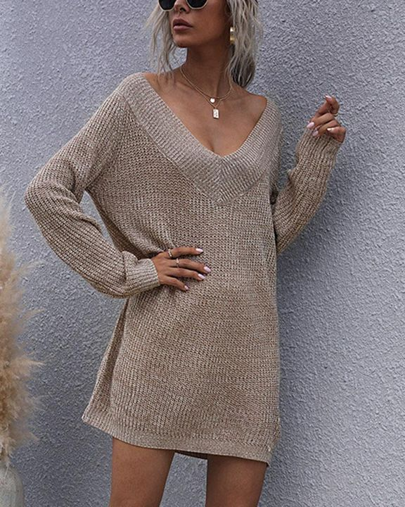 Drop Shoulder Oversized Sweater gallery 3