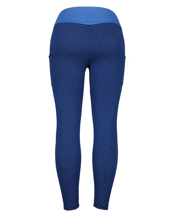 Textured Pocket Detail Wide Band Waist Sports Leggings gallery 4