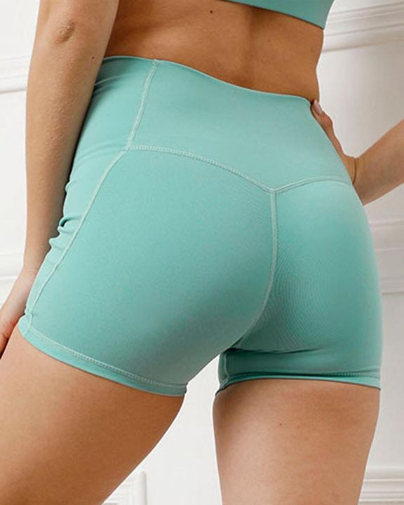 Pocket Decor Wide Waistband Butt Lifting Sports Shorts gallery 11
