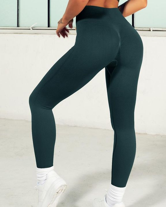 Ombre Wide Waistband Butt Lifting Sports Leggings gallery 19