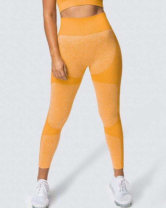 Space Dye Butt Lifting Seamless Absorbs Sweat Sports Leggings gallery 11