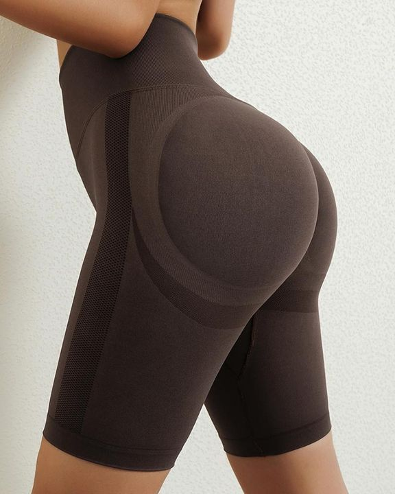 Solid Butt Lifting High Waist Sports Shorts gallery 6