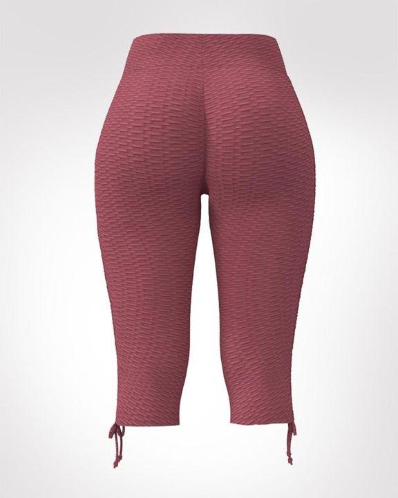 Textured Drawstring Hem Sports Shorts gallery 5