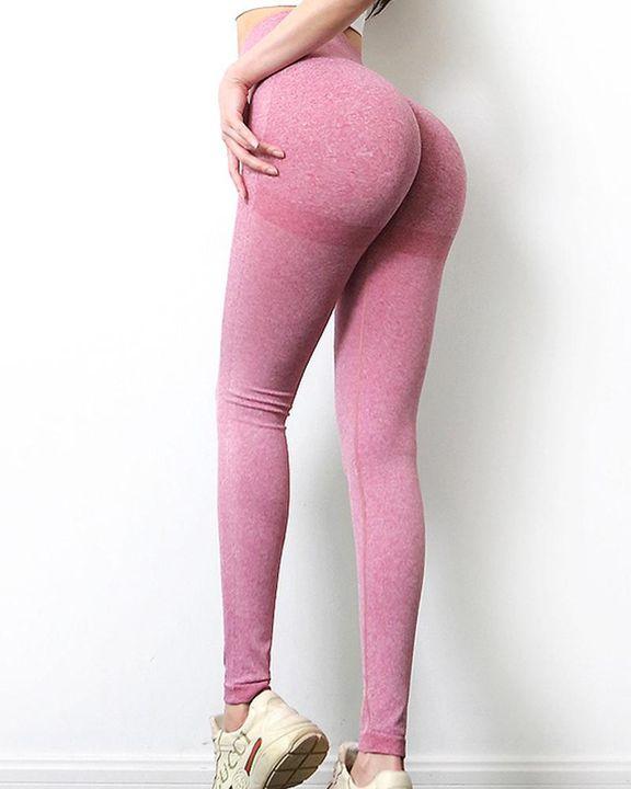 Solid Scrunch Butt High Waist Sports Leggings gallery 19