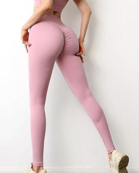 Wide Waistband Scrunch Butt Hip Lift Sports Leggings gallery 12
