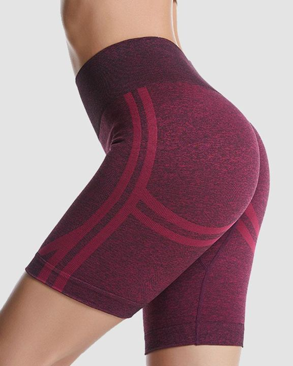 Ribbed Absorbs Sweat High Waist Sports Shorts gallery 5