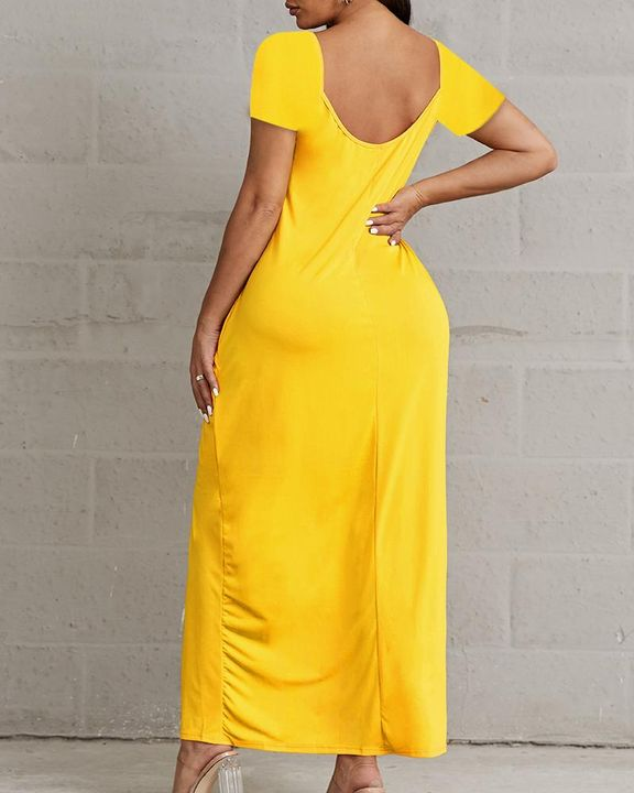 Solid Pocket Detail Maxi Dress gallery 5