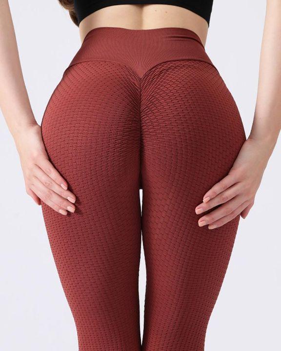 Textured Seamless Butt Lifting High Waist Sports Leggings gallery 12
