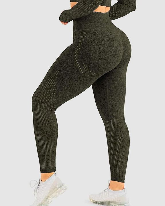 Hollow Out High Rise Butt Lifting Sports Leggings gallery 1