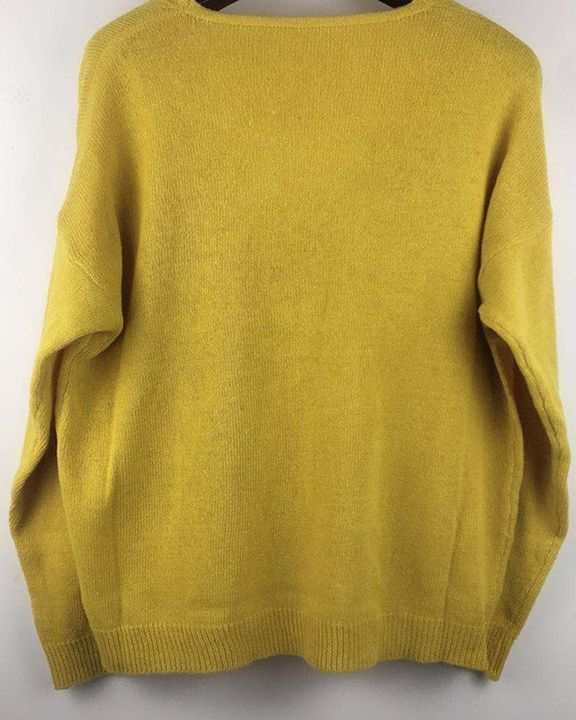 Solid Rib-knit Drop Shoulder Sweater gallery 9
