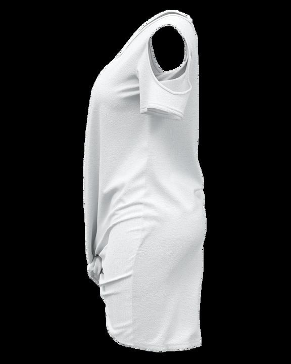 Solid Twist Cold Shoulder Short Dress gallery 8