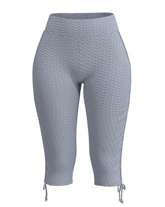 Textured Drawstring Hem Sports Shorts gallery 10