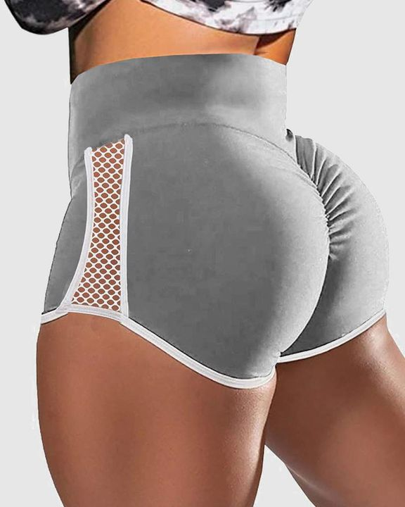 Hollow Out Side Scrunch Butt Sports Shorts gallery 6