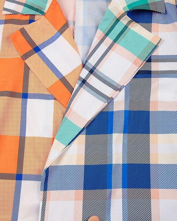 Plaid Button Front Long Sleeve Coat gallery 7