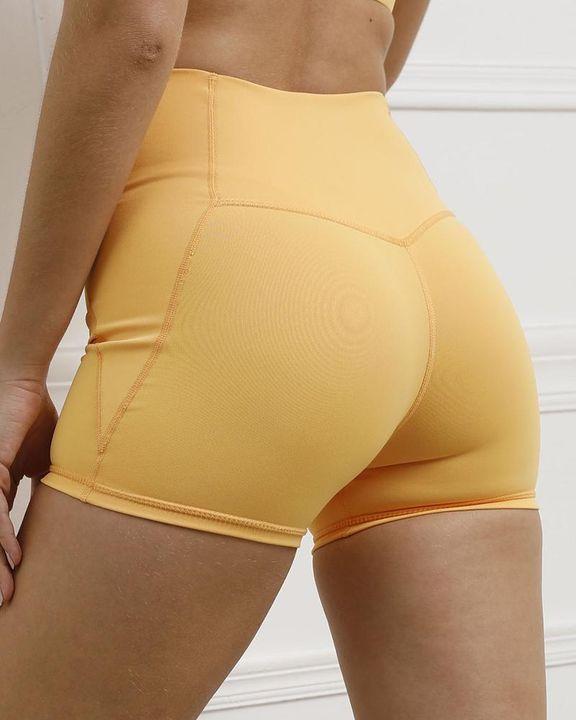 Pocket Decor Wide Waistband Butt Lifting Sports Shorts gallery 21