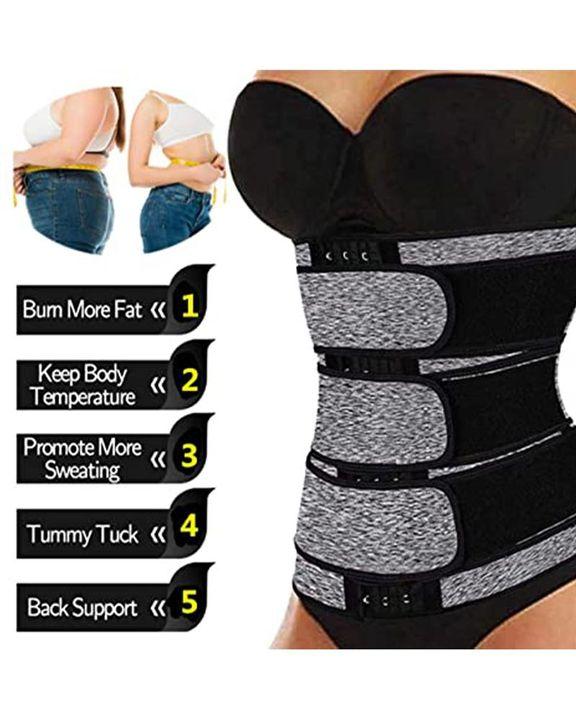 Triple Velcro Closures Trimmer Belt Waist Body Shaper Wrap Trainer gallery 10