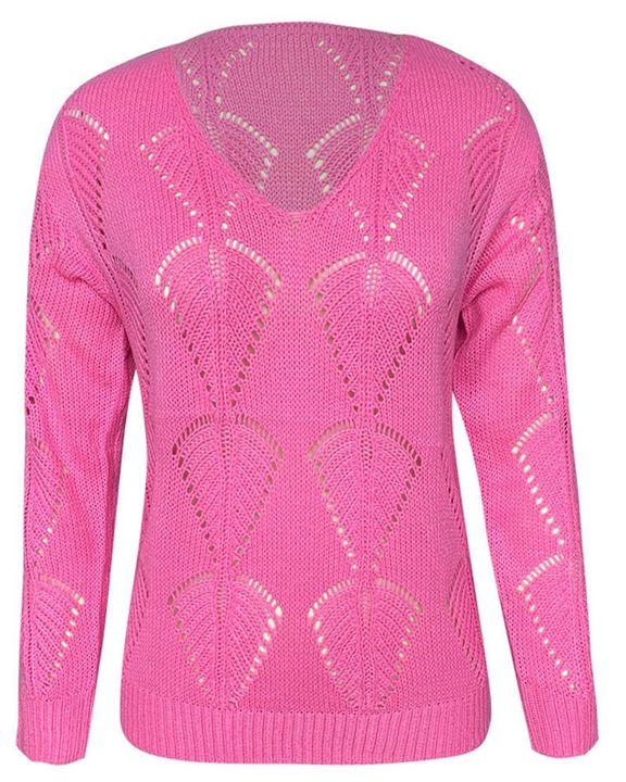 Pointelle Knit Drop Shoulder Bodycon Sweater gallery 5