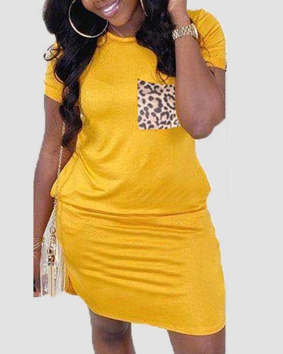 Solid Pocket Front Short Dress gallery 3