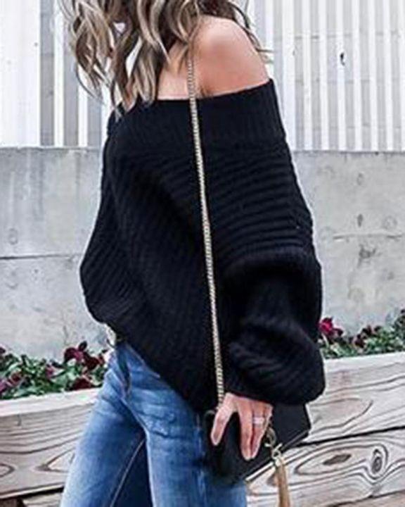 Chunky Knit V Neck Sweater gallery 2