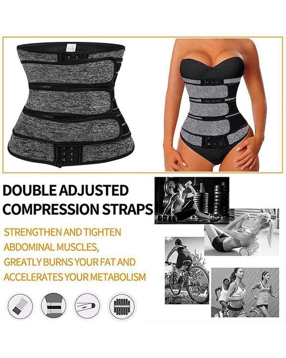 Triple Velcro Closures Trimmer Belt Waist Body Shaper Wrap Trainer gallery 9