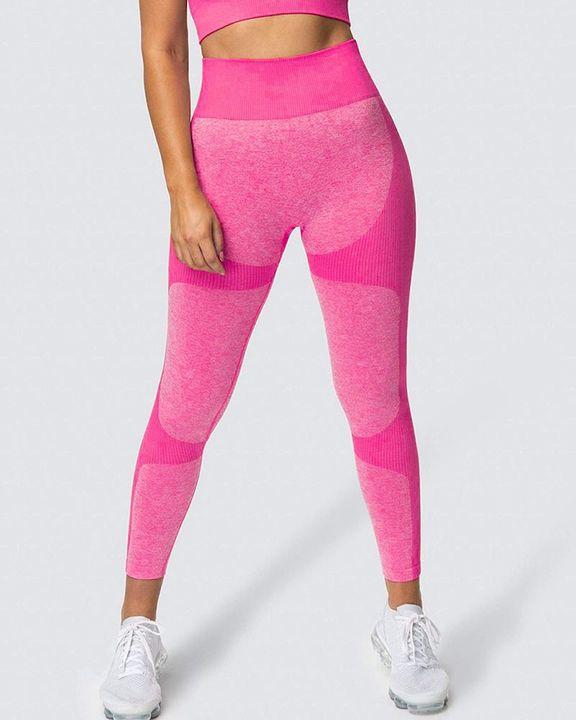 Space Dye Butt Lifting Seamless Absorbs Sweat Sports Leggings gallery 6