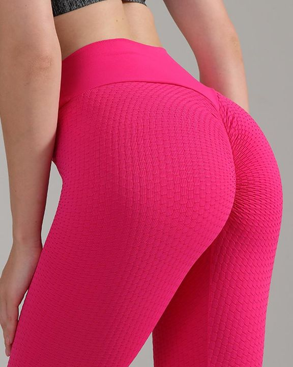Textured Seamless Butt Lifting High Waist Sports Leggings gallery 8