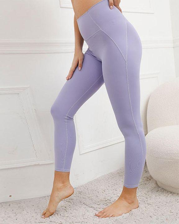 Contrast Stitch Pocket Side Softness Butt Lifting Sports Leggings gallery 6