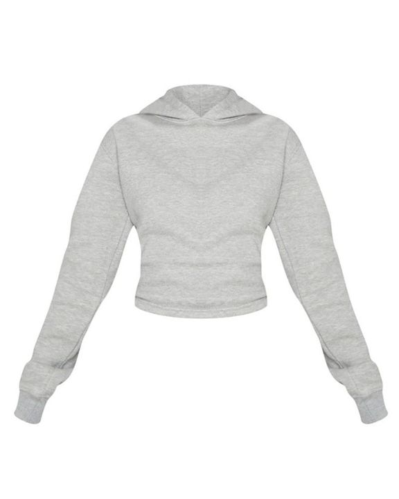 Lace Up Hollow Out Back Crop Hoodie gallery 11